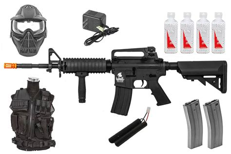 best packages best airsoft rifle starter package w vest mask aeg