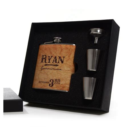 personalized gifts country wedding 8 groomsmen gift flask sets personalized