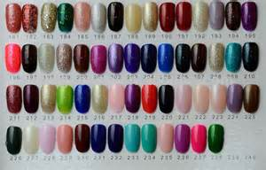 colors nail salon color chart of salon gel china manufacturer of uv