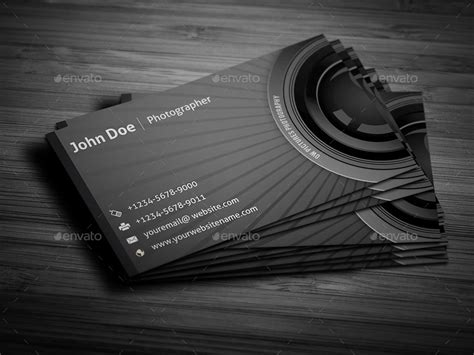 photographer id card template photographer business card by owpictures graphicriver