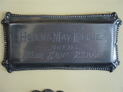 St Helena Birth Records Birth Record On The Coffin Plate Of Helena May Elgie