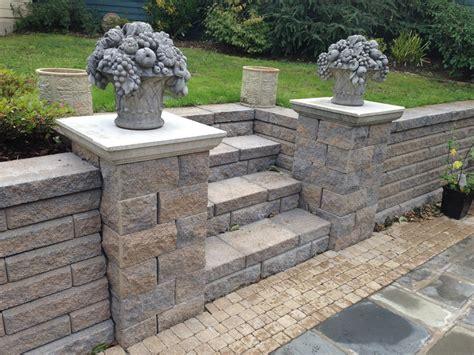 patio wall ideas concrete blocks sound insulation retaining wall systems