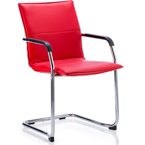 Cantilever Chair by Dynamic Echo Visitor Cantilever Chair Bonded Leather