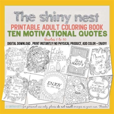 coloring books for adults for sale sale printable coloring book ten motivational quotes
