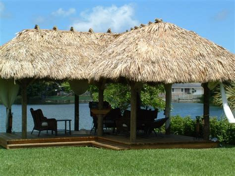 Tiki Huts On Water Custom Built Permanent Tiki Hut L Shaped Gazebos