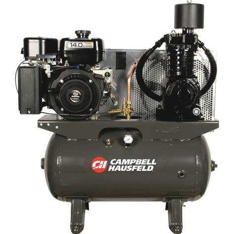 shipping campbell hausfeld service truck series air compressor  hp subaru  engine