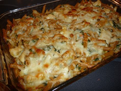 whole grain baked ziti live eat baked ziti with chicken spinach