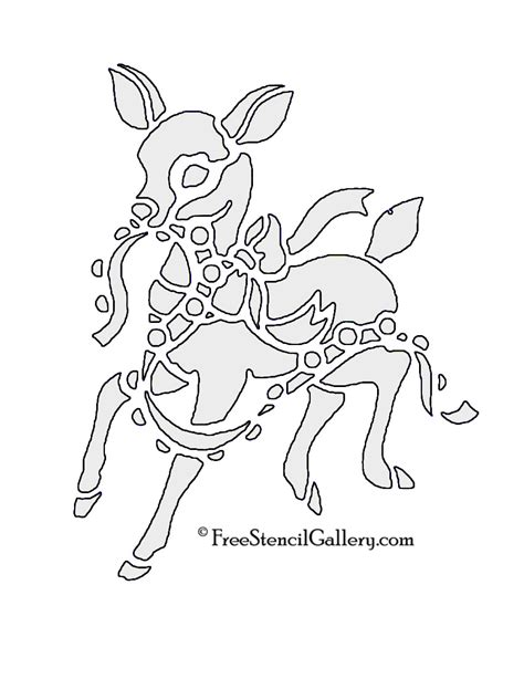 printable reindeer stencil reindeer stencil 01 free stencil gallery