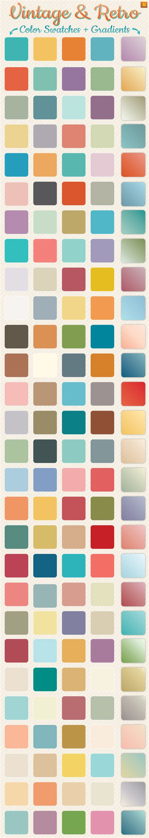 color pattern swatch illustrator vintage retro gradients color swatches colors