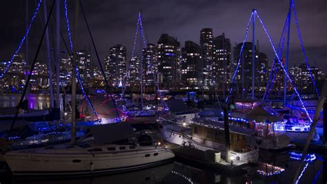 party boat vancouver bc downtown vancouver at night timelapse view of downtown