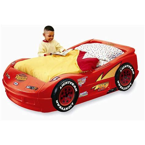 mcqueen car bed little tikes disney pixar s cars the movie lightning