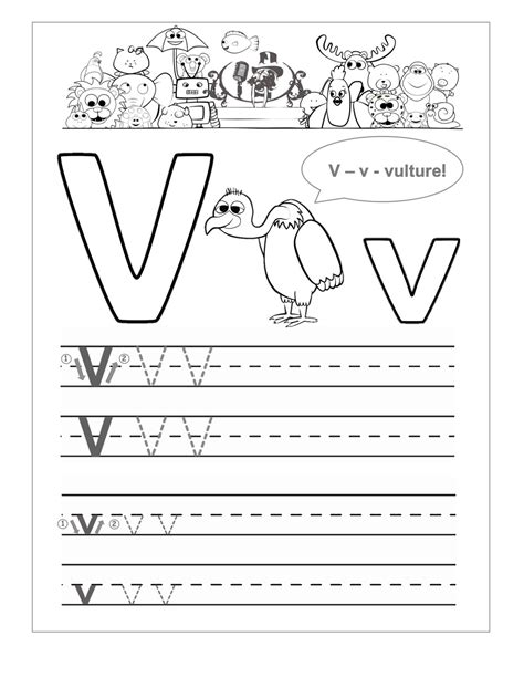 Business Letter Activities Students letter v worksheets kindergarten tracing worksheets