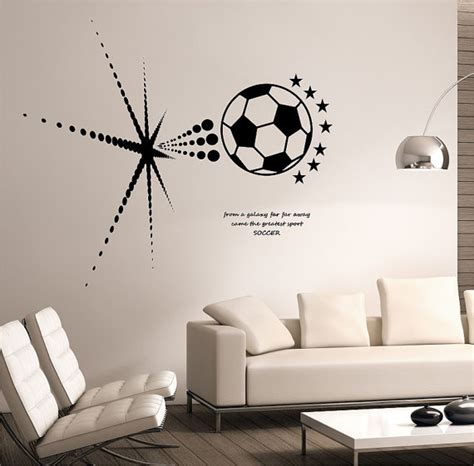 soccer decals for bedroom items similar to soccer wall decal bursting space galaxy