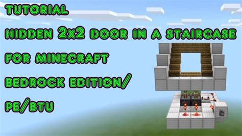 tutorial hidden door   staircase  minecraft