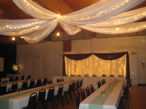 String Lights On Ceiling Headtables Rent Today With G K Event Rentals