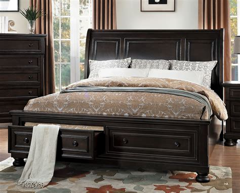 Homelegance Bedroom Set by Homelegance Begonia Sleigh Platform Storage Bedroom Set