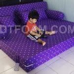 Sofabed Inoac Uk 200x160x20 Motif Volkadot Ungu sofa bed inoac ungu polkadot nyaman digunakan dtfoam