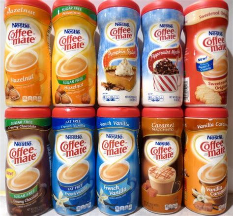 Creamer Coffee Mate nestle coffee mate coffee creamer flavor choices one