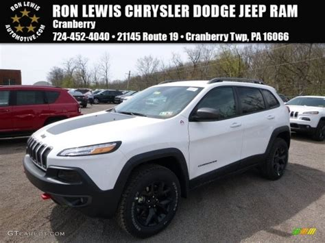 cherokee jeep 2016 white 2016 bright white jeep cherokee trailhawk 4x4 112523252