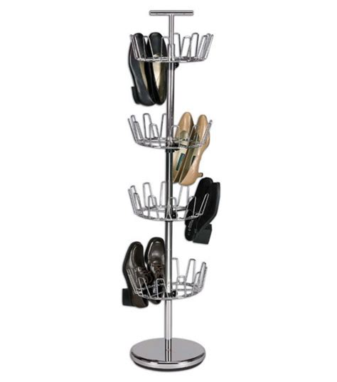 shoe tree storage upright 24 revolving shoe organizer tree stand footwear