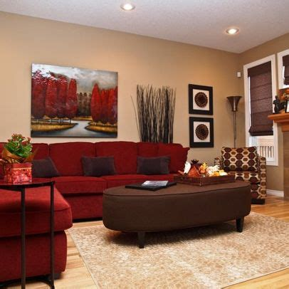 brown red cream living room dream home pinterest red sofa living room couches and red couch decorating on