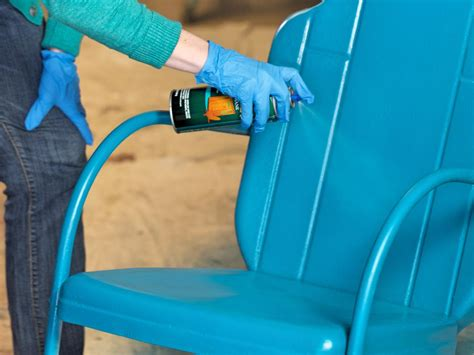 what of paint to use on exterior metal door how to paint an outdoor metal chair how tos diy