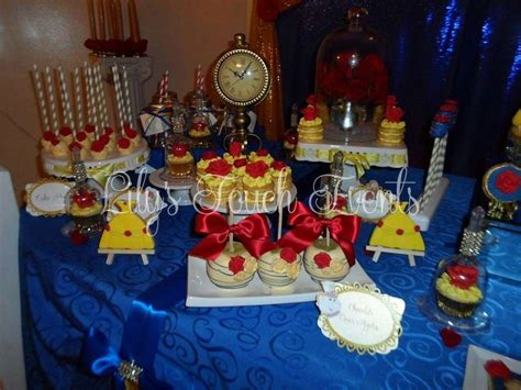 quinceanera themes beauty and the beast beauty and the beast quincea 241 era party ideas photo 5 of