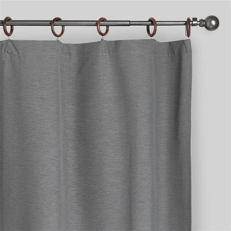 canvas curtain gray canvas ring top jaya curtains set of 2 world market