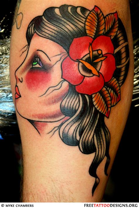 tattoo old school gypsy old school gypsy head tattoo