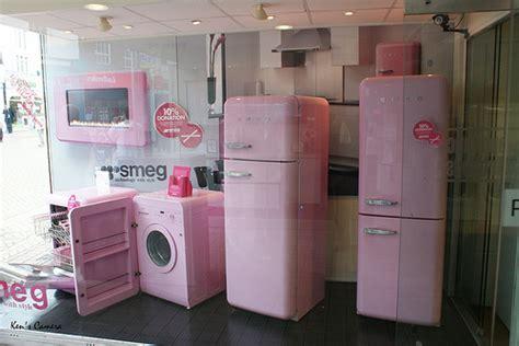 pink appliances kitchen photo