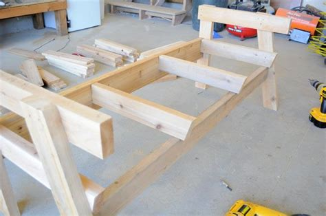 build  double chair bench  table  plans