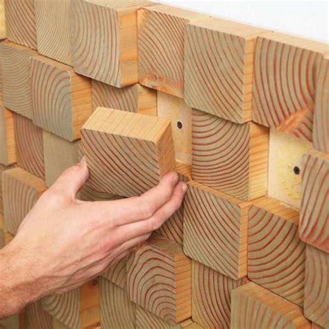 Cinder Block Home Plans by Painel Para Parede Com Blocos De Madeira