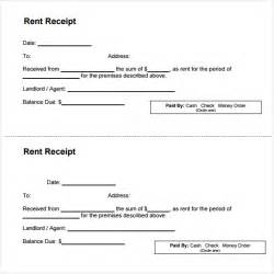Template For Rent Receipt by Top 5 Sles Of Rent Receipt Templates Word Templates