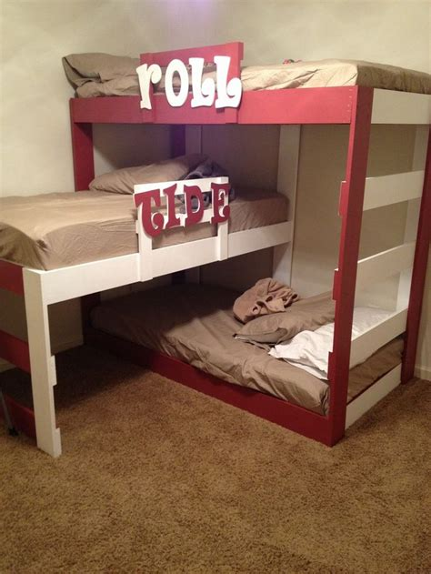 diy triple bunk beds diy triple bunk bed