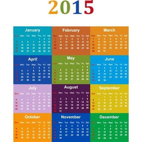 desain kalender 2015 gratis colorful blocks 2015 vector calendar template kalender
