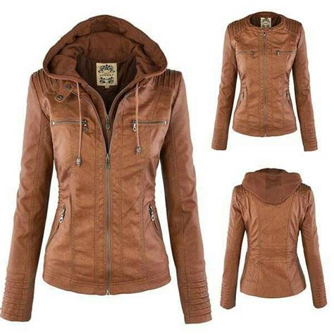 S W A T Leather Brown best 25 brown leather jackets ideas on womens