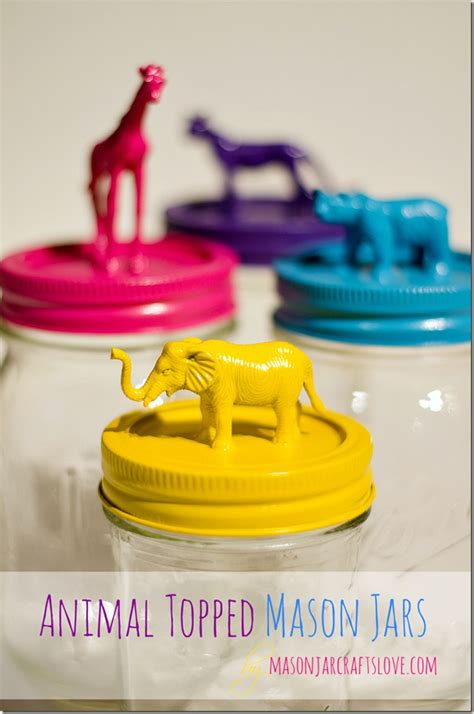 cute diy animal jars perfect to organize a children s 30 kids room organization ideas stretching from toys to