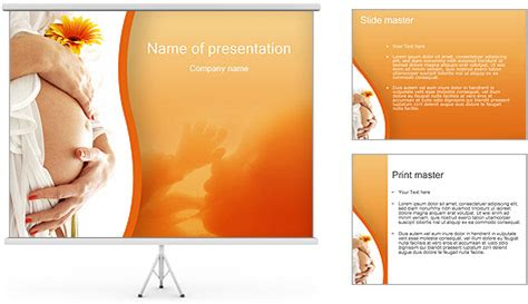 pregnancy template powerpoint template backgrounds id