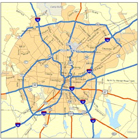 san antonio map map map of