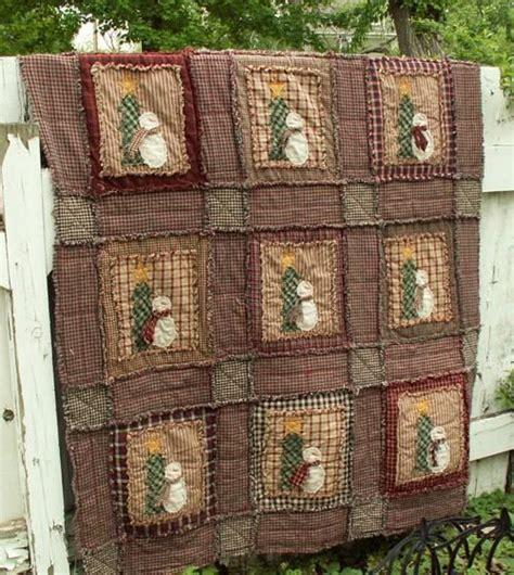 Snowman Rag Quilt Pattern by Snowman Quilt Quilt
