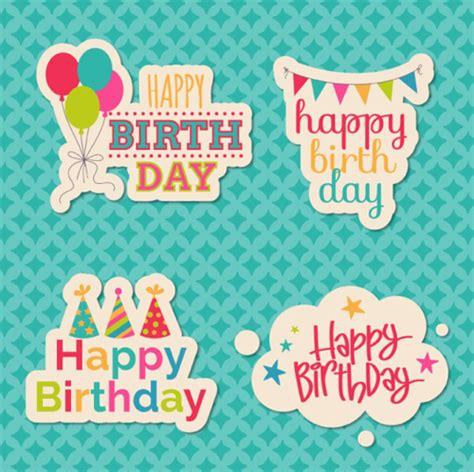 happy birthday sticker design happy birthday sticker design vector vector festival