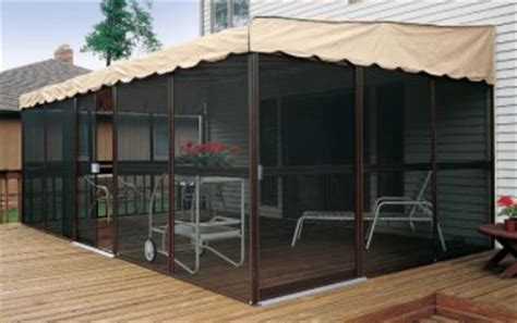 Menards Awnings Patio Mate Screened Enclosure Chestnut Almond Color