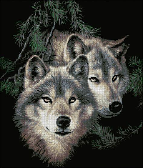 волки схема вышивки скачать