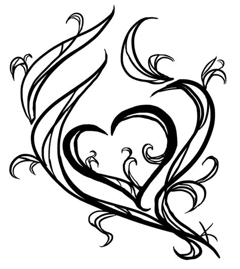 easy tattoo drawing ideas simple heart drawings cliparts co