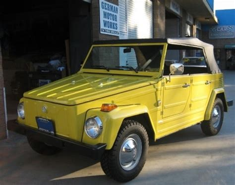 volkswagen thing yellow vw thing parts restoration german motor works