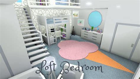 robloxbloxburg teen girls loft bedroom  bunkbeds