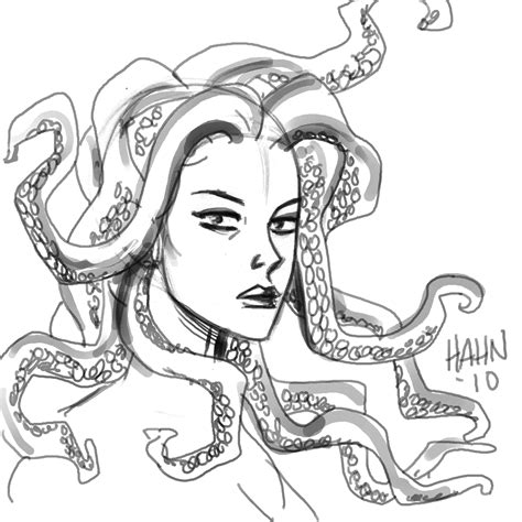 medusa coloring head easy coloring pages