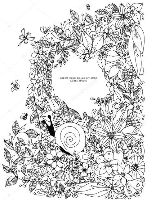 vintage pattern colouring book seashell border frame ocean pattern vector vintage