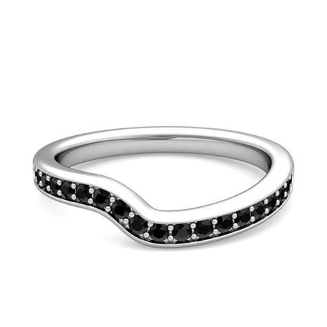 custom curved wedding ring band  women diamonds gemstones