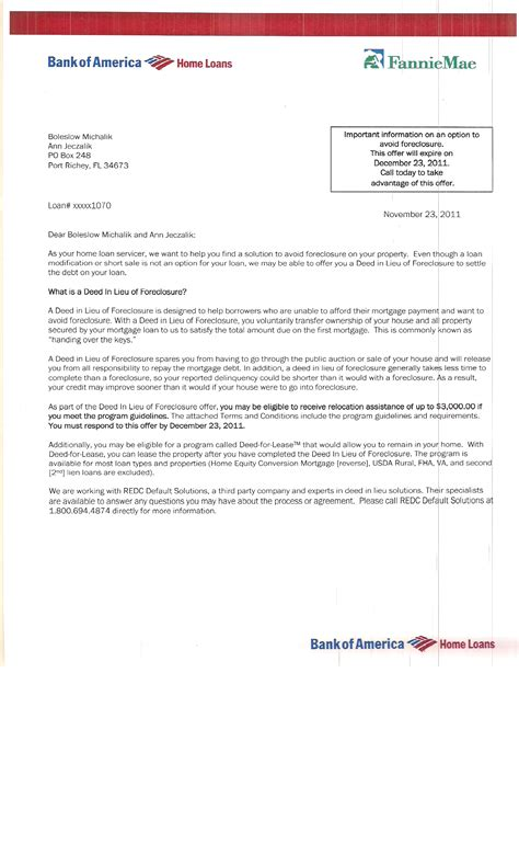 Official Bank Letter Bank Of America michalik mortgage fraud money extortion forged